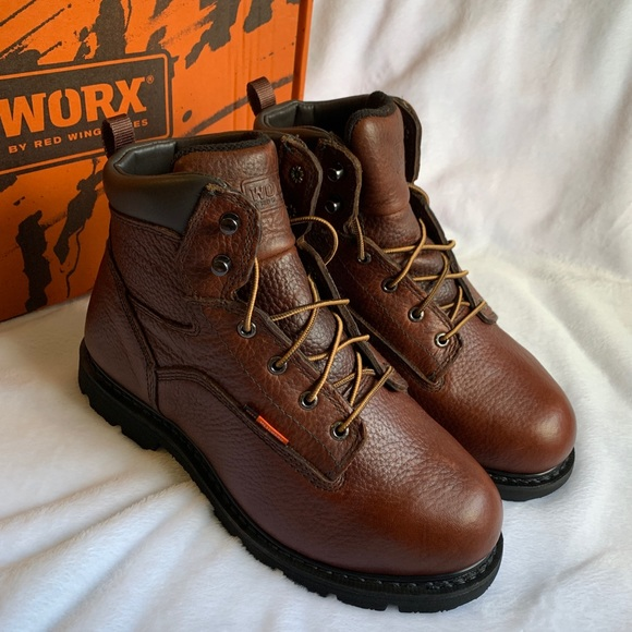 Worx By Red Wing Steel Toe Boots